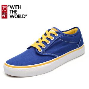 万斯男鞋秋季帆布鞋经典款低帮板鞋韩版潮流滑板鞋透气女鞋WS068