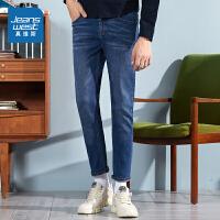 [5折秒杀价:56.9元,仅限12.7-8]真维斯男装冬装新款 弹力雨纹轻商务牛仔裤