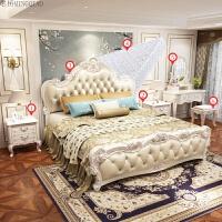 欧式床双人床主卧实木现代简约经济型公主床1.8米1.5婚床家具 +床垫+梳妆台+妆凳