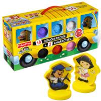 美国费雪创意巴士DIY彩泥套装儿童益智橡皮泥玩具