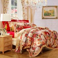 富安娜家纺 床上用品 提花四件套 床品床单套件4件套盛世经典