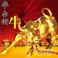 纯铜铜牛摆件华尔街牛大号生肖装饰风水工艺品开业牛气冲天