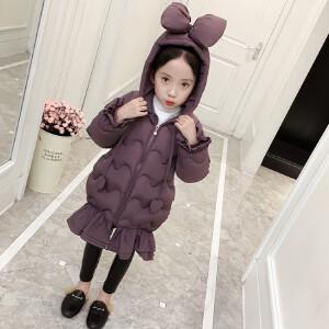 童装2018冬季新款女童鱼尾棉衣儿童时尚保暖棉衣棉袄