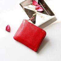 零钱包女短款2018新款真皮学生韩版可爱迷你薄款钱夹头层牛皮卡包