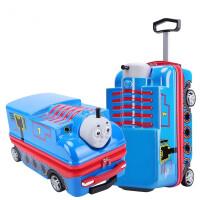 儿童20寸拉杆箱万向轮学生旅行箱男孩汽车款可坐骑行李箱 20寸(箱套+箱贴+密码锁)