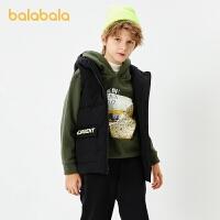【3件4折:87.6】巴拉巴拉童�b男童印花棉�R甲�和�背心2020新款秋冬中大童保暖洋��
