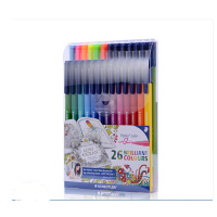 STAEDTLER施德楼迷失的海洋323 TB26JB 26色三角彩绘笔 水彩笔