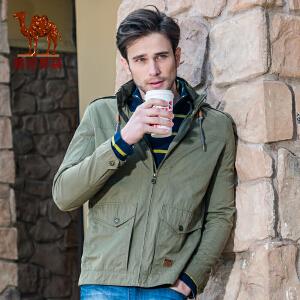 骆驼男装 春装男士纯色夹克 男士日常休闲立领jacket外套男