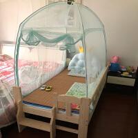 儿童床蚊帐学生宿舍男女孩蒙古包婴儿蚊帐168x88150x80180x100 玫红色 水绿188*108护栏 其它
