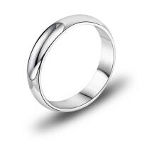 相思树 纯银男士戒指 男款单身光面戒 指环王韩版时尚925银饰品NJ002