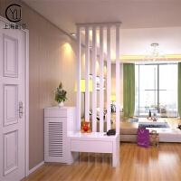 玄关隔断柜 客厅 装饰柜 进门玄关柜鞋柜白色烤漆 门厅装饰屏风柜 组装