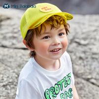 迷你巴拉巴拉儿童帽子夏季2021新款男童女童简约棒球帽洋气鸭舌帽