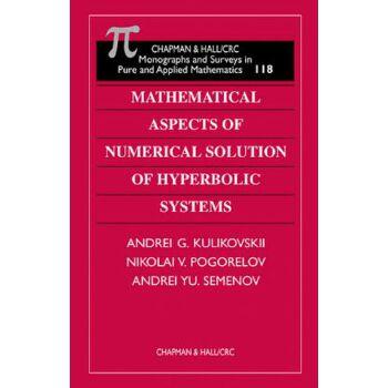 【预订】Mathematical Aspects of Numerical Solution of Hyperbolic Systems 美国库房发货,通常付款后3-5周到货!