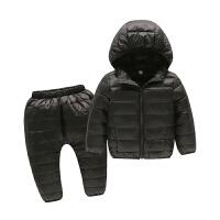 儿童羽绒服套装宝宝新款白鸭绒上衣裤男童女童婴儿中童小童两件套
