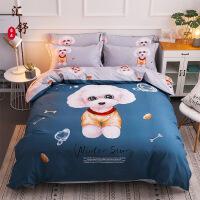 卡通儿童四件套棉男孩女1.5米床单公主风全棉磨毛被套床上用品
