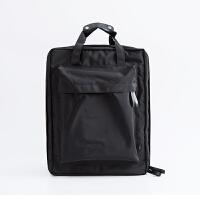 旅行手提韩双肩背包学生书包帆布旅游行李情侣大容量衣物收纳男女