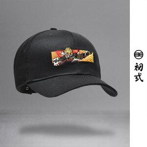 【支持礼品卡支付】初�q中国风复古潮牌刺绣悟空图弯沿棒球帽男女情侣鸭舌帽子46080