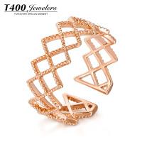 T400 开口戒指女日韩个性潮人食指指环简约百搭创意首饰品装饰戒指 4497