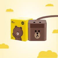 公牛GNV-UU221TB小魔方USB 插座(布朗熊)新国标插线板/插排/排插/接线板 GNV-UU212B 全长1.