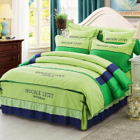 床上用品四件套床罩被套简约大气北欧风2米1.8全棉纯棉床裙款家纺