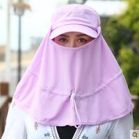 遮阳帽防紫外线可折叠帽子女春夏天户外休闲太阳帽骑车防晒帽遮脸