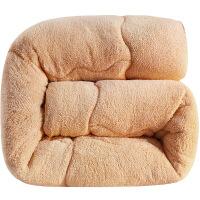 君别秋冬羊羔绒冬被双人加厚被芯学生单人双面羊毛绒纤维棉被冬天保暖被子被