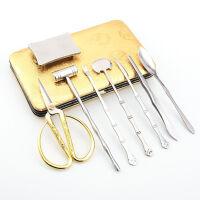 吃蟹工具三件套家用大闸蟹钳螃蟹夹子拆蟹剪套装拨螃蟹神器蟹八件