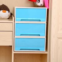 [当当自营]百草园(bicoy)塑料收纳箱 可组合收纳柜抽屉柜 抽屉式储物柜 24L 1个装 孔雀蓝