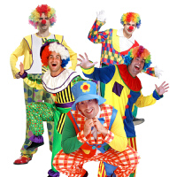 Cosplay化装舞会服饰 小丑服装 衣服套装 成人男女小丑装扮