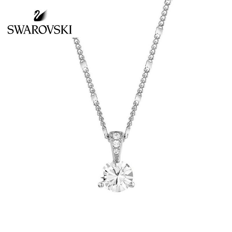 SWAROVSKI/施华洛世奇 透明水晶般质感镀白金项链 1800045正品保障(可使用礼品卡)