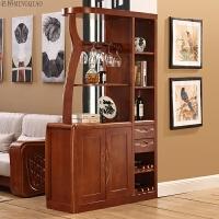 实木间厅柜隔断柜玄关柜双门酒柜现代简约中式门厅柜 组装