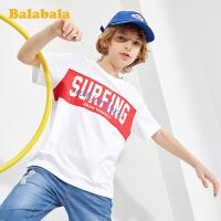 巴拉巴拉儿童打底衫短袖T恤夏装童装男童中大童韩版百搭印花上衣