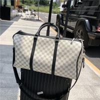 男女运动健身包多功能大容量印花行李包单肩斜跨手提包旅行包 大