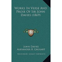 【预订】Works in Verse and Prose of Sir John Davies (1869) 9781
