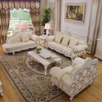 家具欧式布艺沙发组合123客厅沙发可拆洗实木法式沙发