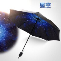 【新款小黑伞】防晒伞晴雨全能加厚黑胶伞遮阳伞太阳伞三折伞