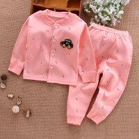 儿童内衣套装春秋0-1岁男婴儿衣服纯棉女宝宝秋衣长袖开衫睡衣