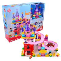 益智拼搭积木大号颗粒宝宝玩具4-6周岁女孩儿童拼插城堡