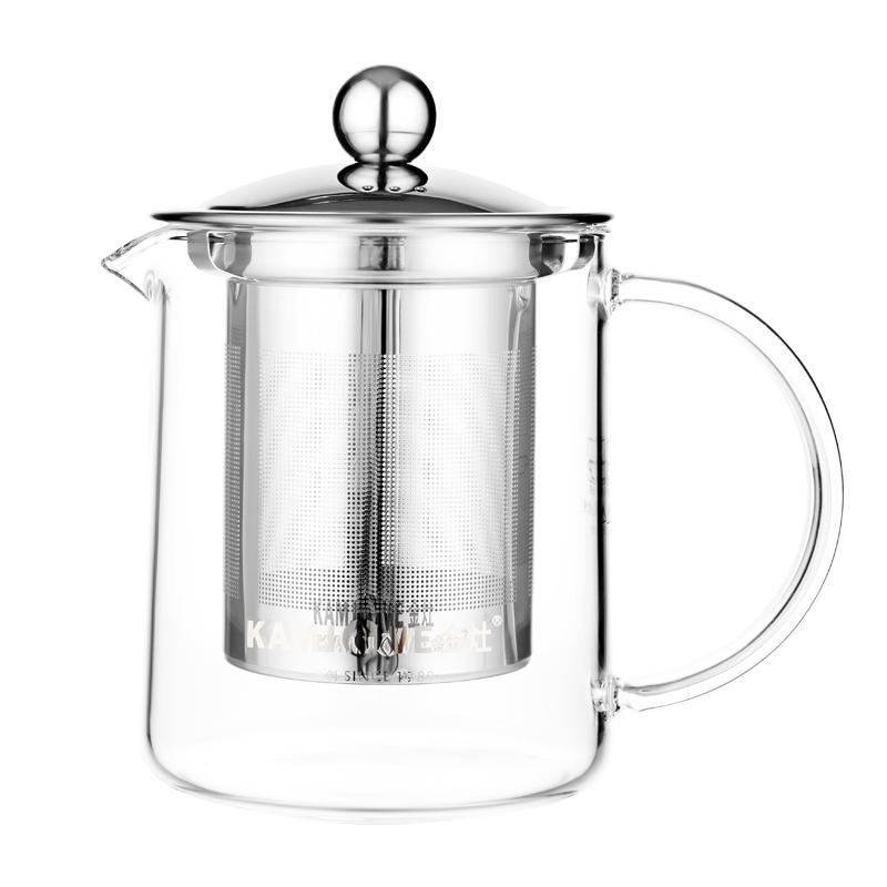 金灶玻璃茶道杯 350ML A-01泡茶杯不锈钢内胆过滤茶壶办公室茶杯