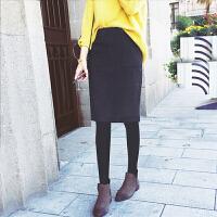 季孕妇短裙2017秋装新款秋潮妈外穿韩版怀孕期托腹打底半身裙