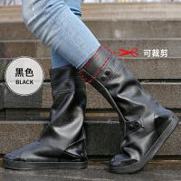 纯色简约雨鞋男女可爱水鞋夏雨靴雨鞋套加厚儿童透明水靴生活日用雨具 高筒37CM 黑色