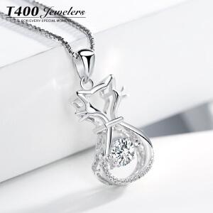 T400日韩国s925银气质项链女士可爱狐狸锁骨链个性吊坠猫狸之恋  12142