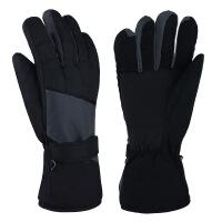 冬季手套男冬加厚防寒风骑车棉手套冬分指保暖手套滑雪防水 均码