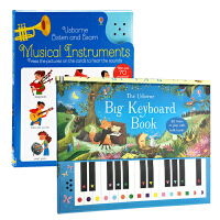 音乐启蒙发声书2册 英文原版Usborne Musical Instruments/Big Keyboard Book