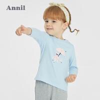 【2件4折价:47.6】安奈儿婴儿短袖T恤2021新品纯棉女童夏装半袖上衣0岁1幼儿3宝宝女