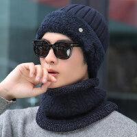 时尚毛线帽保暖针织帽子男 韩版潮男士帽子 户外骑车帽防寒青年纯色帽子