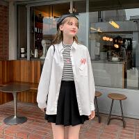 粉红豹联名款毛菇小象宽松衬衫女2019新款秋季设计感小众复古上衣