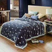 拉舍尔毛毯加厚 冬季双层毯子 珊瑚绒毯盖单人5斤