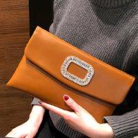 女手包镶钻女包单肩斜挎信封包大容量手抓包女晚宴女夹包