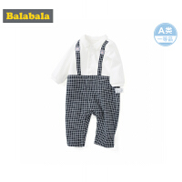 巴拉巴拉婴儿连体衣新生儿宝宝衣服外出哈衣爬爬服抱衣周岁礼服男